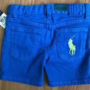 Ralph Lauren Jean shorts, size 4/4T